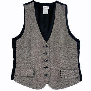 Vintage Chevron Pattern Vest